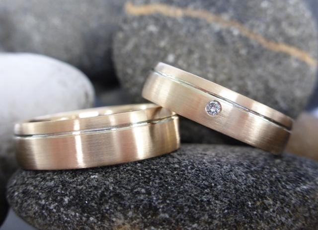 roségouden ringen met diamant