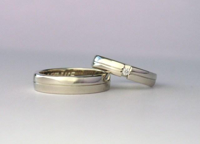 Witgouden ringen met diamant